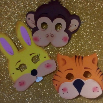 Máscara de EVA - animalzinhos