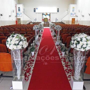 Aluguel Decoração Corredor Cerimonial Branco Casamento