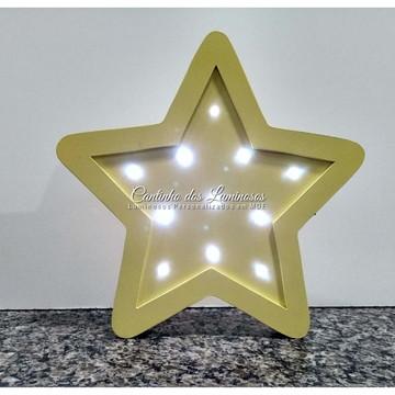 Luminoso Led Estrela em 100% MDF.