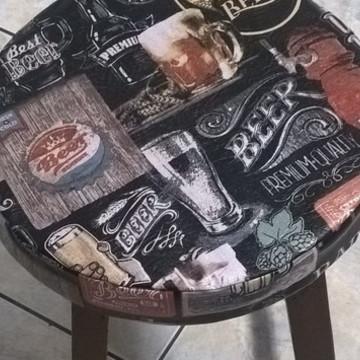 Capa Cerveja para Banqueta/Banco com Espuma