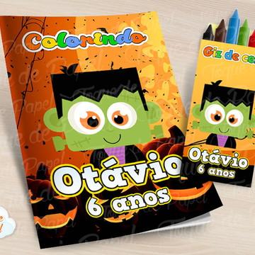 Kit colorir com giz de cera Halloween
