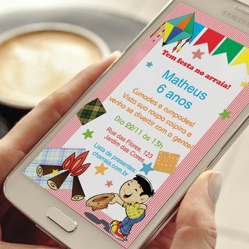 Convite Digital Festa Junina Whatsapp