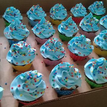 Cupcakes - Cobertura Alta - Azul