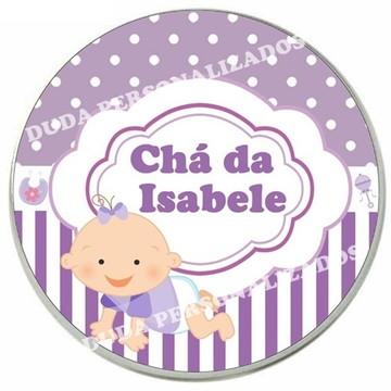 Adesivo para latinha Chá de Bebê ou Chá de fralda lilás