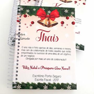Caderno Corporativo Personalizado de Natal