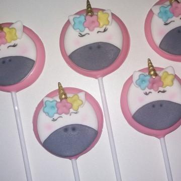 PIrulitos de chocolate unicornio