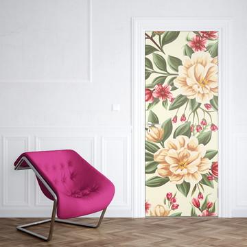 Adesivo de Porta Flores Decoraçao Elegante