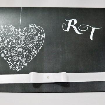 Convite Casamento Chalkboard
