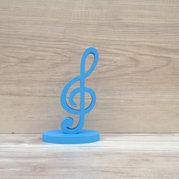Nota Musical em MDF - Clave de Sol