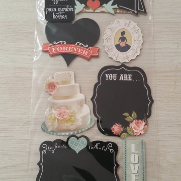 Adesivo 3D Chalkboard Stickers Vintage Wedding
