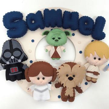 Enfeite Porta Maternidade Star Wars