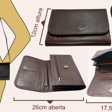 6e066a1c3 Bolsa Feminina Couro Legitimo Alca Transversal Porta Celular | Elo7