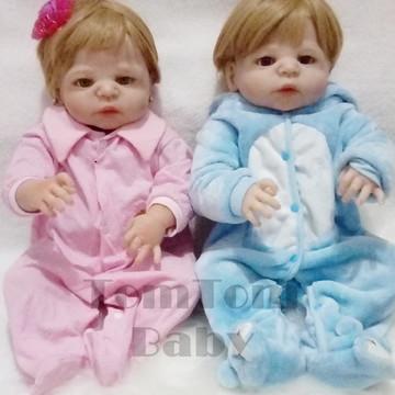 Bebê Reborn Gemeos corpo todo em vinil