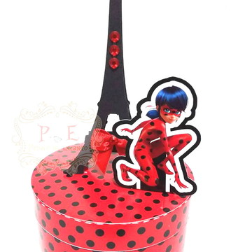 Lembrancinha lady bug caixa personalizada