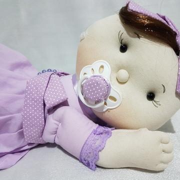 Boneca bebê soninho enfeite