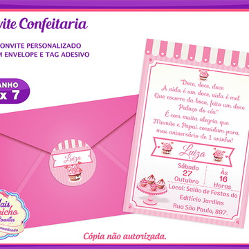 Convite Confeitaria