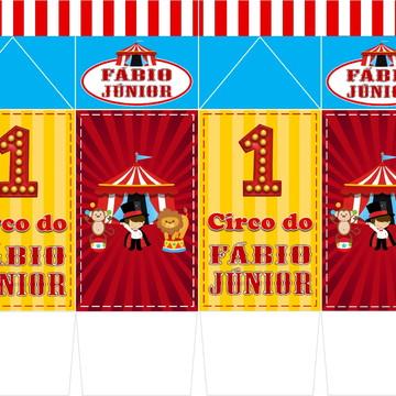 Caixa Milk Personalizada Circo