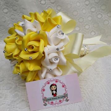Buquê Pré Wedding amarelo e branco