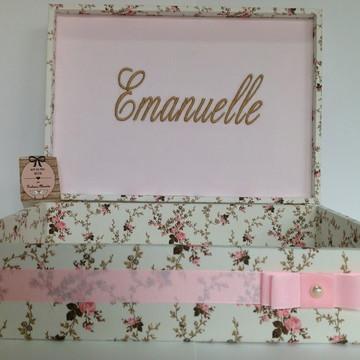Caixa Lembrancinha Maternidade Menina rosa