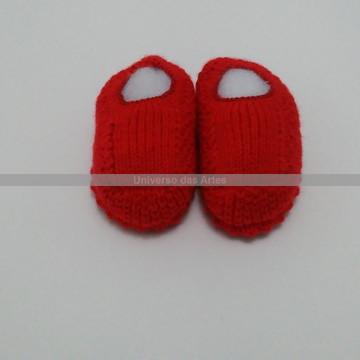 Sapatinhos em tricô