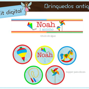Kit digital Brinquedos antigos | para imprimir