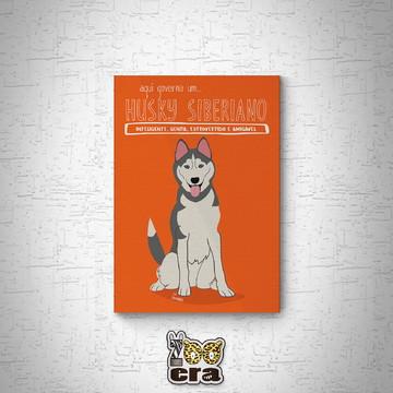 Husky siberiano - Quadro em mdf de cachorro