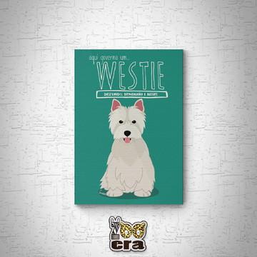 Westie terrier - Quadro em mdf de cachorro