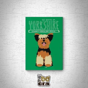 Yorkshire - Quadro em mdf de cachorro