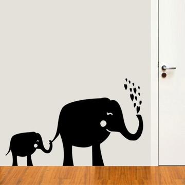 Adesivo de Parede Elefante Mãe e Filho-P 38x24cm