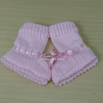 Botinha em tricô para bebê- 0 a 3 meses