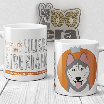 Husky Siberiano - Caneca de Porcelana de Cachorro