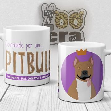 Pitbull - Caneca de Porcelana de Cachorro