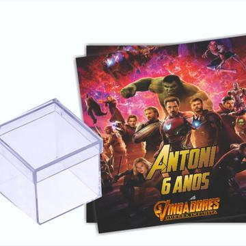 Adesivo Caixa acrílico Vingadores Guerra Infinita