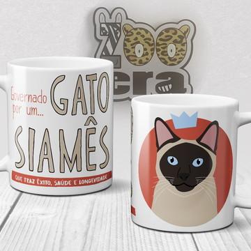 Gato Siamês - Caneca de Porcelana