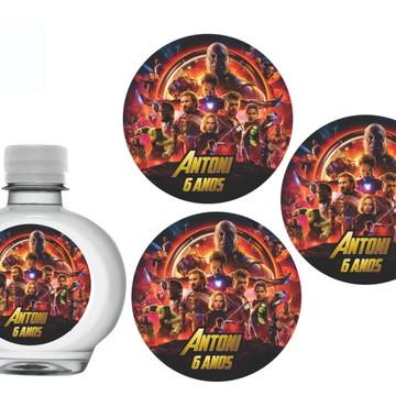 Adesivo água Ouro Fino Vingadores Guerra Infinita