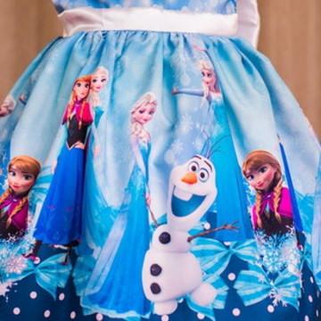 Vestido da Frozen Luxo