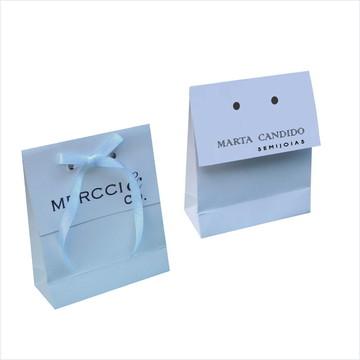 Sacola mini branca para bijus - personalizada