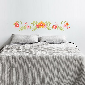 adesivo cabeceira floral