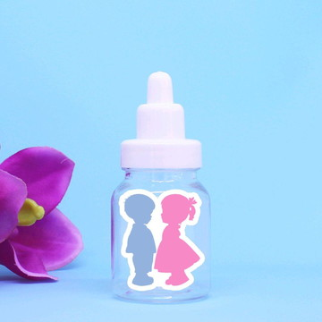 Mini-mamadeira chá de revelação do sexo do bebê
