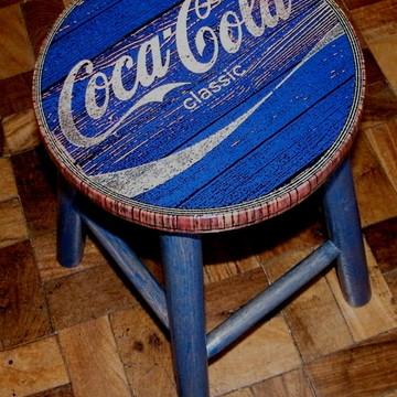 Banco Vintage Coca Classic Blue