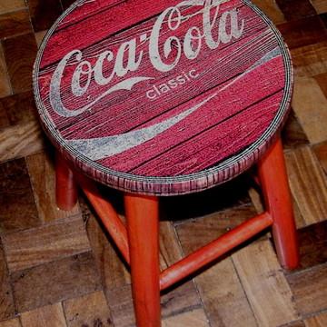 Banco Vintage Coca Classic Red