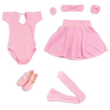0766d76f06 Conjunto Ballet Infantil Completo + Bolsa
