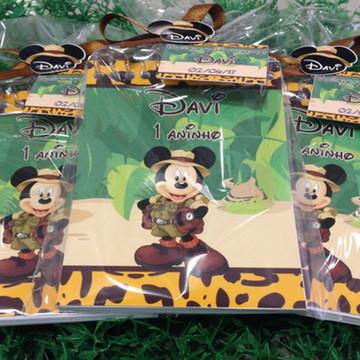 100 Bloquinhos lembrancinha Mickey Safari