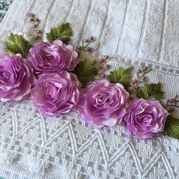 Toalha Bordada Decorativa para Lavabo Presente Dia das Mães