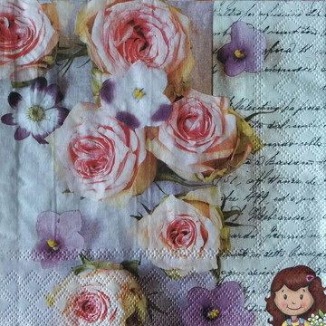 Guardanapo Rose & Violets