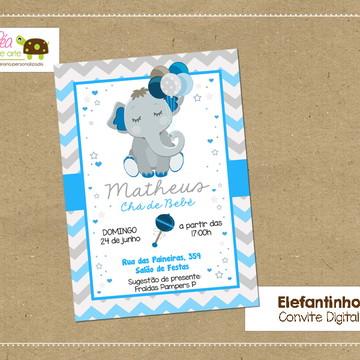 Convite digital Chá de Bebê Elefantinho
