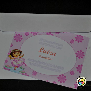 Convite infantil Dora bailarina