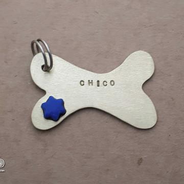 Placa de Identificação Pet Ossinho