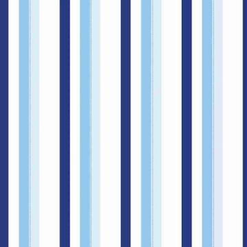 Papel de Parede Listrado Tons de Azul e Branco-1245