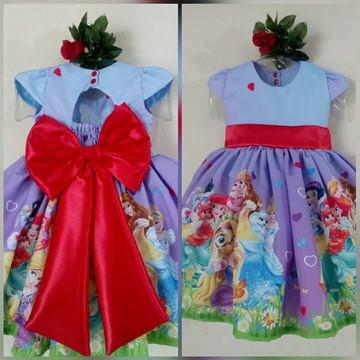 Vestido Temático Infantil Princesas Conto de Fadas Luxo